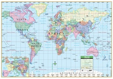 World Map Laminated