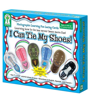 Learning Fun Lacing Cards, I Can Tie My Shoes