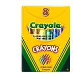 Crayola® Regular Size Crayons, 8 crayons in a tuck box