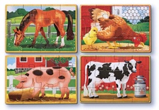 Wooden Jigsaw Puzzles in a Box, Farm Animals