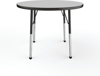 "36"" Round T-Mold Adjustable Activity Table-Gray Top/Standard Leg"