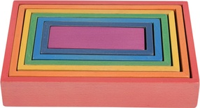 Wooden Rainbow Architect Rectangles