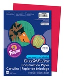 "SunWorks® Construction Paper, 9"" x 12"", Holiday Red"