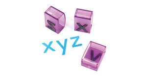 "Alphabet Transparent Stamps, Jumbo 1"" Lowercase"