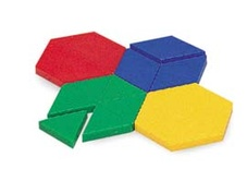 Plastic Pattern Blocks, 1 cm thick, Set of 250