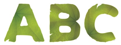"Leaves 5"" Designer Letters"