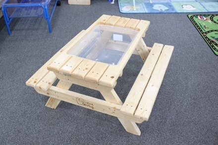 Wooden Sensory Picnic Table - Pick up only