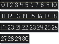 Black Counting 0-30 Number Line