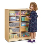 Jonti-Craft® 10 Tub Mobile Storage - with Clear Tubs