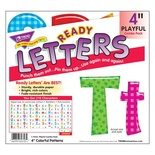 "Playful Patterns 4"" Uppercase/Lowercase Ready Letters® Combo Pack, Colorful Patterns"