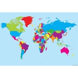 "World Map 13"" x 19"" Smart Poly™ Chart"