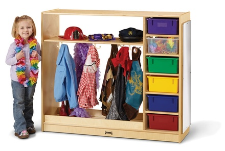 Dress-Up Storage with 6 tubs
