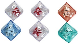 10-Sided Double Dice, Set of 6