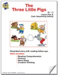 The Three Little Pigs Lesson Plan and Color Sequencing Activity