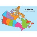 "Canada Map 13"" x 19"" Smart Poly™ Chart"