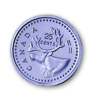 Canadian Quarters, Pack of 100