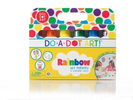 Do-A-Dot Art Markers, Rainbow Washable, 6 Pack