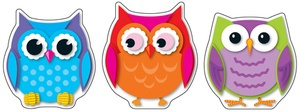 Colorful Owls Cut-Outs®