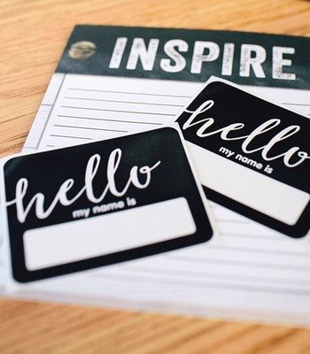 Schoolgirl Style™ Industrial Chic Hello Name Tags