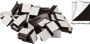 Adhesive Magnetic Squares, 1""