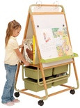 Double Sided Bamboo Teaching Easel-Value Priced