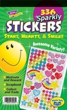 Sparkly Stars, Hearts & Smiles Sticker Pad