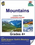 Earth Science - Mountains e-lesson plan & Reading Folder