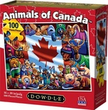Animals of Canada 100 Piece Jigsaw Puzzle