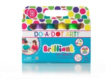 Do-A-Dot Art Markers, Brilliant Washable, 6 Pack
