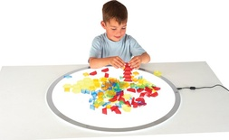 Translucent Hollow Pattern Blocks, Set of 180