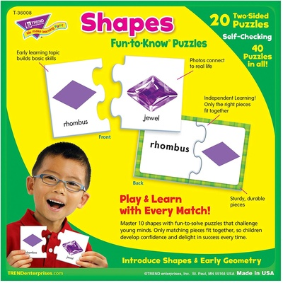 Fun-to-Know® Puzzles, Shapes