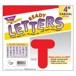 "4"" Uppercase Casual Solids Ready Letters®, Red"