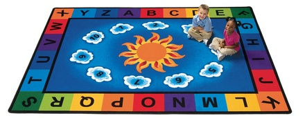 Sunny Day Learn and Play  Rectangle Carpet