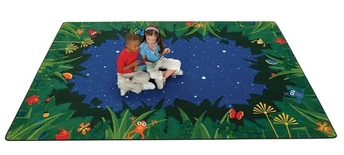 Peaceful Tropical Night Rectangle Carpets