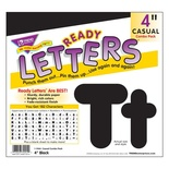 Uppercase/Lowercase Casual Solids Ready Letters® Combo Pack, Black 4''