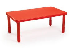 "Value Table, Red, 48"" x 28"" Rectangle"