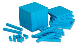 Base Ten Starter Set, Blue Plastic