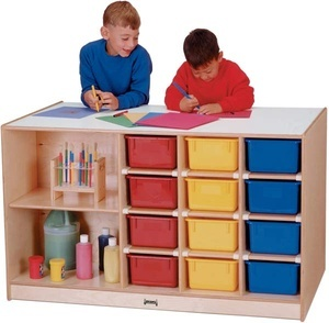 Mobile Storage Island, With colored trays