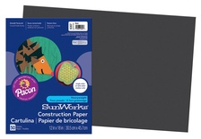 "SunWorks® Construction Paper, 12"" x 18"", Black"