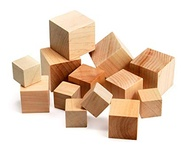 Wood Blocks, 48 assorted