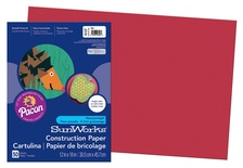 "SunWorks® Construction Paper, 12"" x 18"", Red"