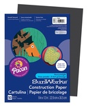 "SunWorks® Construction Paper, 9"" x 12"", Black"