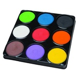 Tempera Cakes, 9 assorted colors