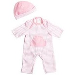 "Doll Clothes for 13""-16"" Dolls, Light Pink Romper with Hat"