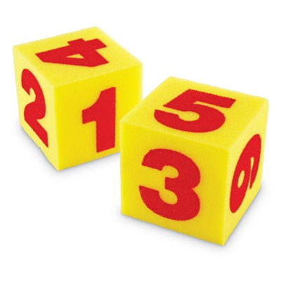 Giant Soft Foam Numeral Cubes