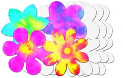 "Color Diffusing Paper, 9"" Flowers, 80 sheets"