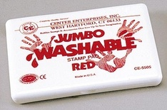 Jumbo Washable Stamp Pad, Red