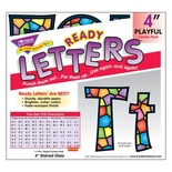 "Playful Patterns 4"" Uppercase/Lowercase Ready Letters® Combo Pack, Stained Glass"