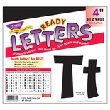 "Playful Solids 4"" Uppercase/Lowercase Ready Letters® Combo Pack, Black"