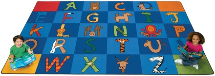 A to Z Animals Rectangle Carpets